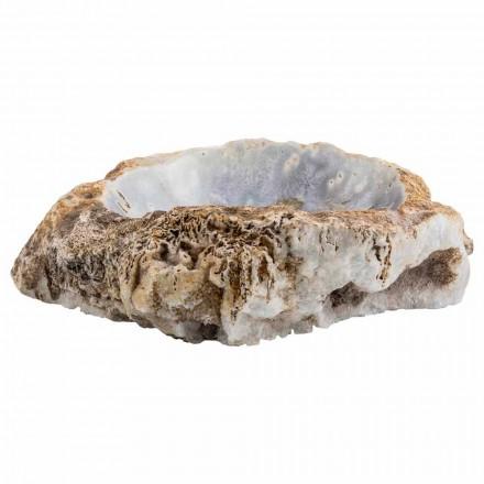 Umywalka ręcznie robiona nablatowa w kamieniu agatowym, Posina
