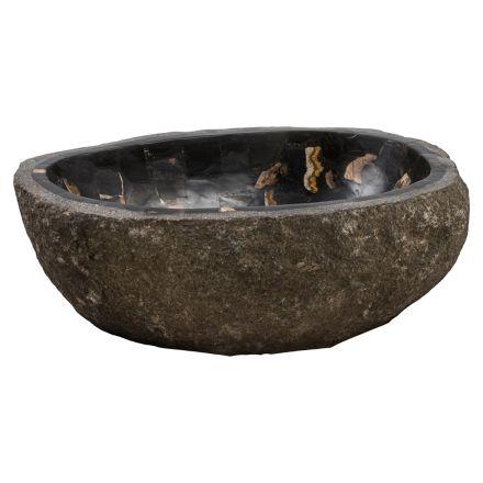 Ręcznie robiony zlew w kamieniu rzecznym, Palizzi