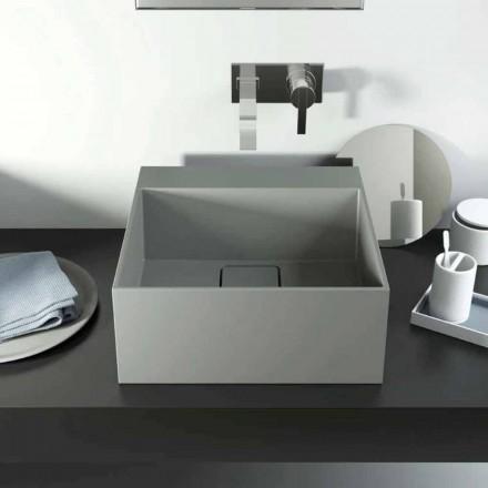 Nowoczesna umywalka nablatowa wyprodukowana w 100% we Włoszech, Lavis