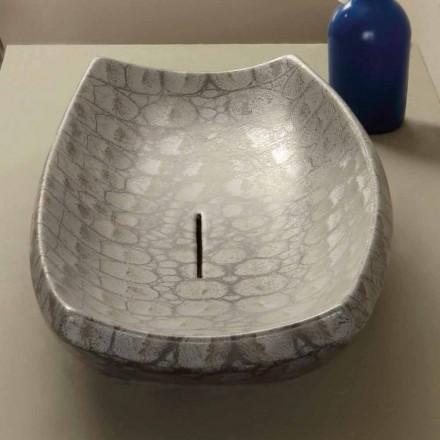 Umywalka z ceramiki caimano nablatowa nowoczesny design model Laura