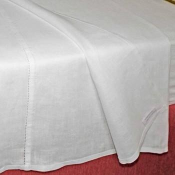 Czysty biały kremowy prześcieradło lniane Made in Italy - Chiana