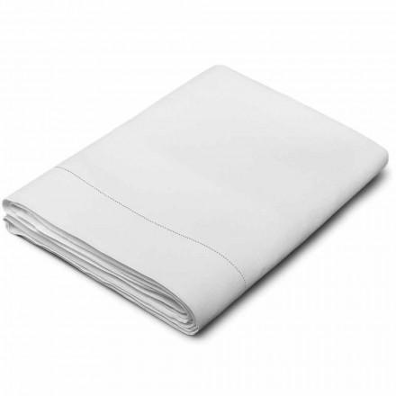 Prześcieradło z czystej bielizny białej w kolorze kremowym Made in Italy - Chiana