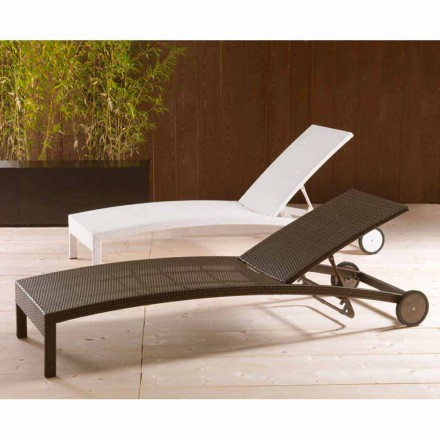Leżak ogrodowy na kółkach regulowany Sun Bed