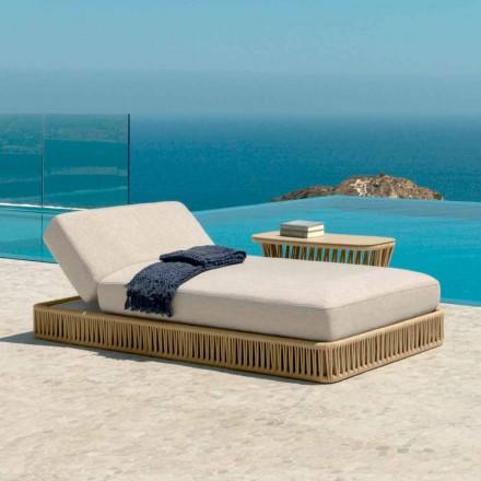 Nowoczesny leżak Cliff firmy Talenti, zaprojektowany przez Palombę