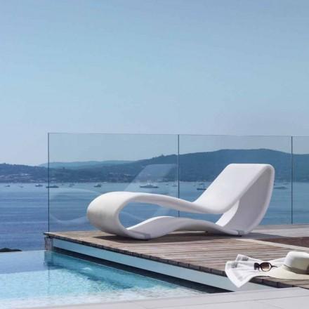 Leżak ogrodowy biały design Breez 2.0 od Talenti