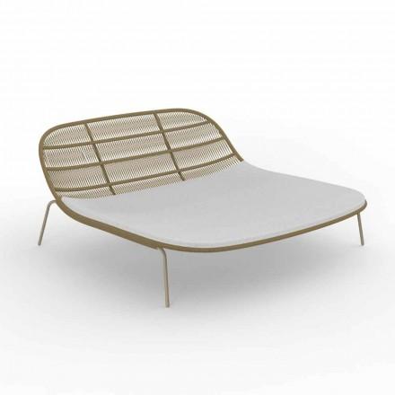 Podwójne łóżko ogrodowe z aluminium i materiałem - Panama Talenti