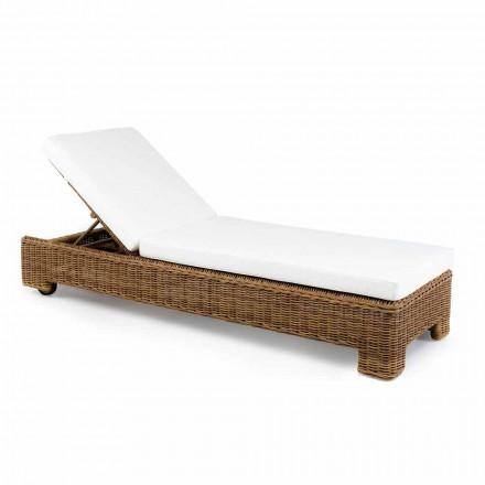 Pojedyncze lub podwójne leżaki ogrodowe z luksusowego syntetycznego rattanu - Yves