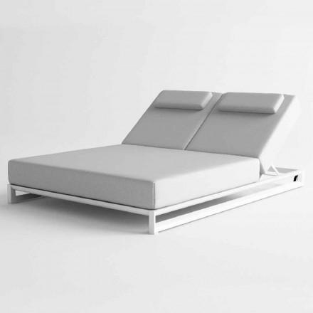 Zewnętrzny leżak z aluminium i tkaniny - Gioacchino