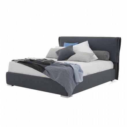 Łóżko z podwójnym pojemnikiem z tkaniny lub sztucznej skóry Made in Italy - Runner