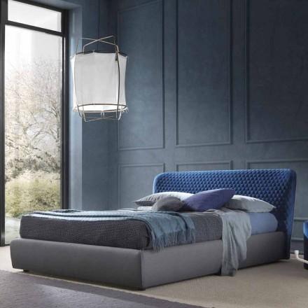 Podwójne łóżko z pudełkiem, design Contemporaru, Corolle by Bolzan
