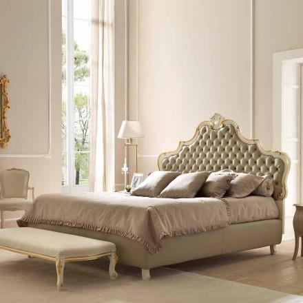 Podwójne łóżko z pojemnikiem na łóżka, klasyczny design, Chantal by Bolzan