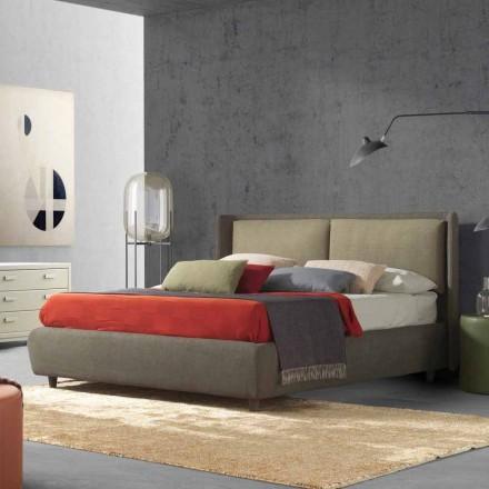 Podwójne łóżko z pojemnikiem na łóżka, nowoczesny design, Kate by Bolzan