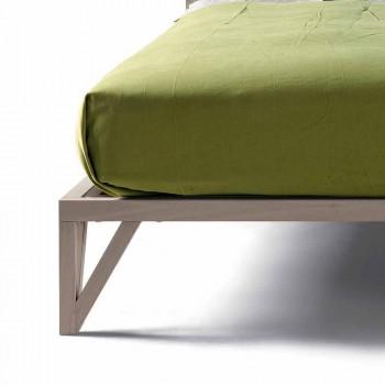 Zaprojektuj podwójne łóżko 160x200cm z solidną podstawą orzecha Alain
