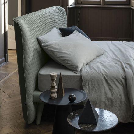 Podwójne łóżko, bez pojemnika, współczesny design Corolle firmy Bolzan