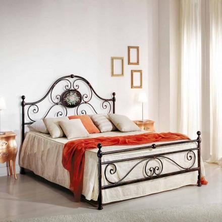 Łóżko dwuosobowe design z kutego żelaza Alexa