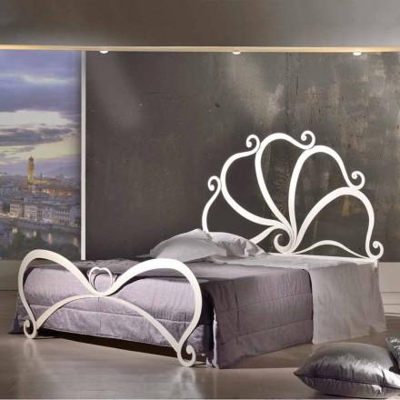 Łóżko dwuosobowe design z żelaza z ozdobami kryształowymi, Eden