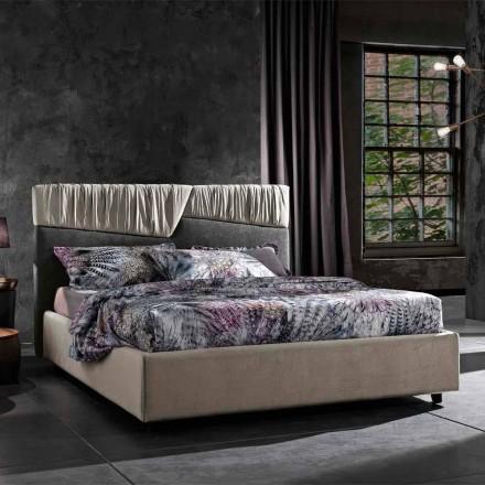 Nowoczesne łóżko podwójne ze składanym lub pikowanym zagłówkiem - Alano