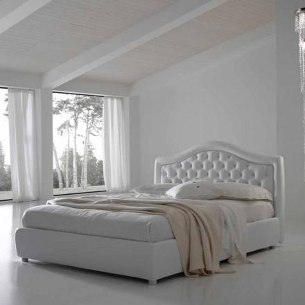 Podwójne łóżko z pojemnikiem, klasyczny design Capri marki Bolzan