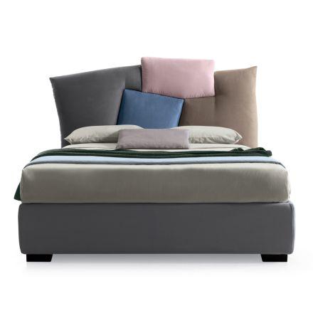 Łóżko tapicerowane z miejscem do przechowywania tkanin - Belle