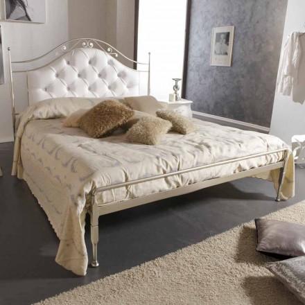 Lóżko dwuosobowe tapicerowane wykonane z żelaza, Gracie