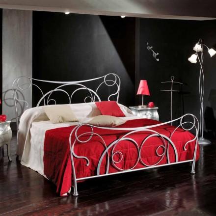 Łóżko dwuosobowe z żelaza wykonane ręcznie model Zoe