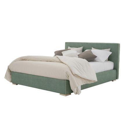 Podwójne łóżko z tkaniny lub eko-skóry z pojemnikiem Made in Italy - Etoile