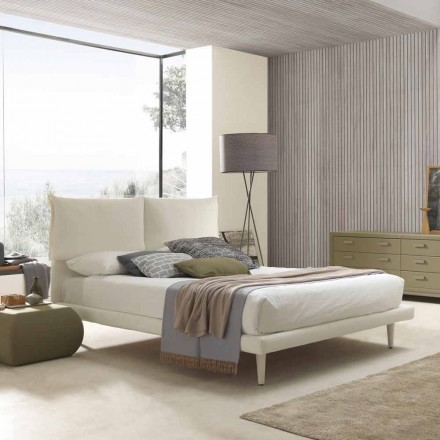 Nowoczesne podwójne łóżko, z cienką podstawą i bez pudełka, Iorca by Bolzan