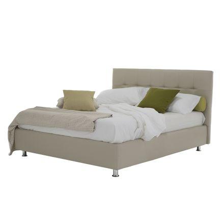 Luksusowe nowoczesne łóżko podwójne ze schowkiem Made in Italy - Orfei