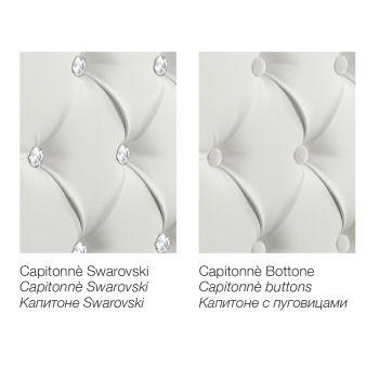 Nowoczesne łóżko podwójne w ekoskóry z Contentiore - Ozzano