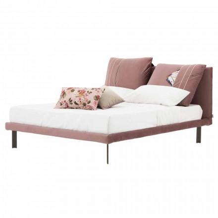 Podwójne łóżko pokryte wyjmowaną tkaniną Made in Italy - Tevio