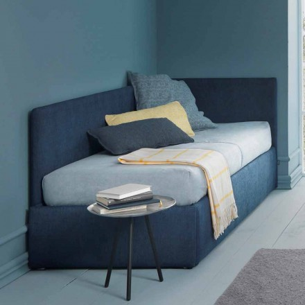 Łóżko pojedyncze z zagłówkiem narożnym i panelem bocznym Linia 4 Bolzan