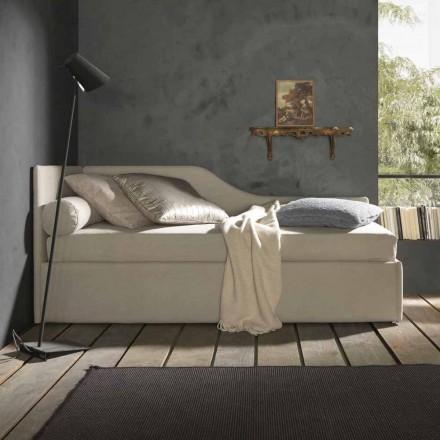 Łóżko pojedyncze z zagłówkiem i panelem bocznym, linia 8 Bolzan