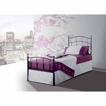 Łóżko pojedyncze w kute Amethyst