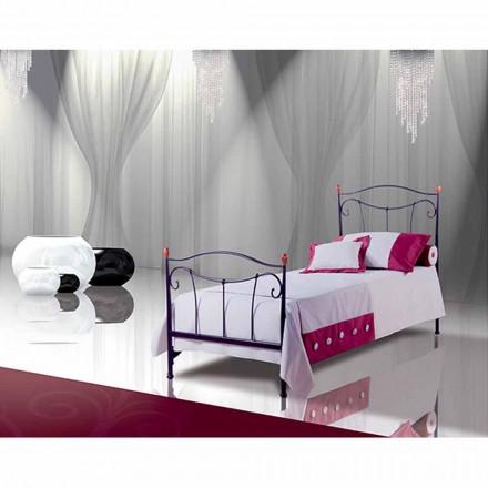 Łóżko pojedyncze w kute Dalia