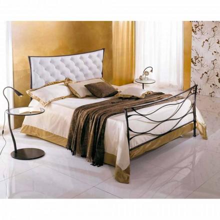 Łóżko pojedyncze w kute Hydra Capitonnè