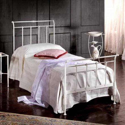 Łóżko jednoosobowe z kutego żelaza Amanda rękodzieło,made in Italy