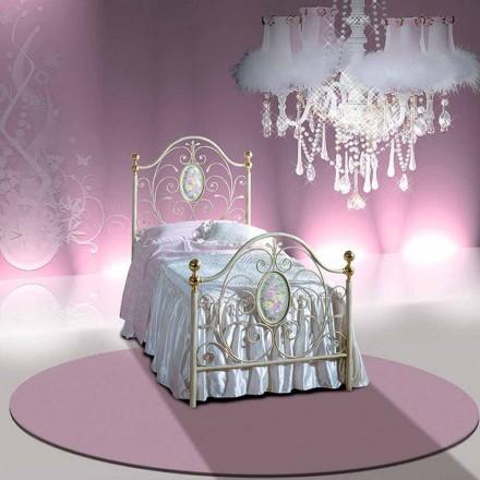 Łóżko pojedyncze w kute Turquoise