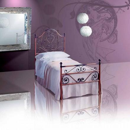 Łóżko pojedyncze w kute Garnet
