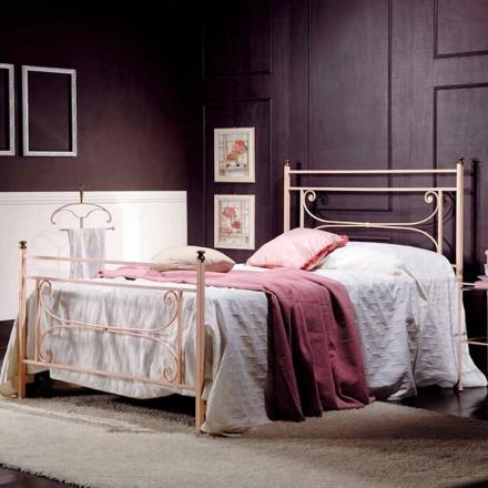Łóżko Queen z kwadratowego kutego żelaza Claudia