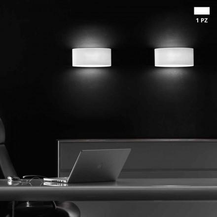 Leucos Vittoria kinkiet ścienny LED z białego satynowanego szkła