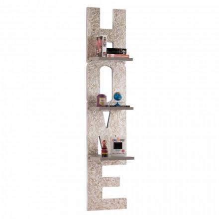 Regał ścienny Olga, 3 półki, nowoczesny design wykonany we Włoszech