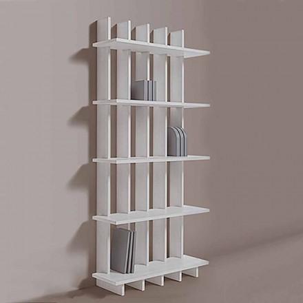Regał ścienny Shabby Chic z drewna jesionowego o nowoczesnym designie - Babele