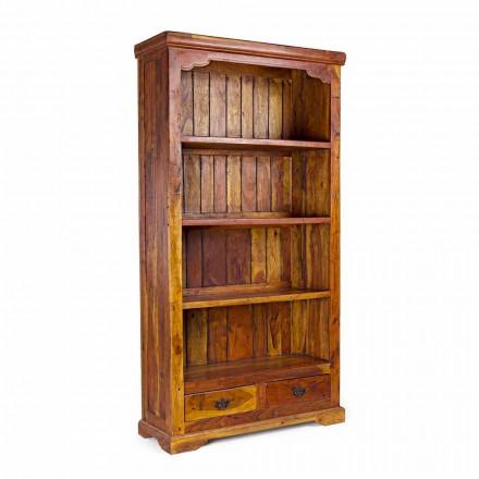 Klasyczny regał podłogowy z litego drewna akacjowego Homemotion - Umami