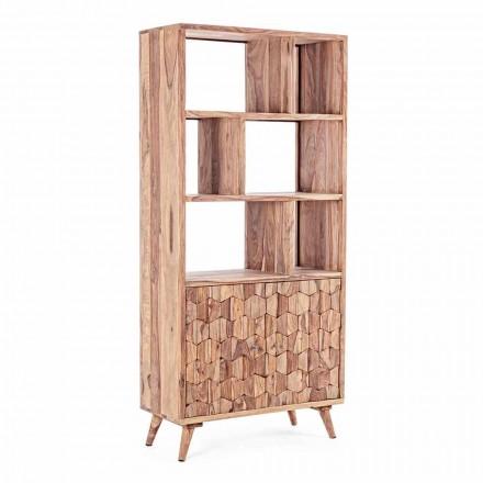 Regał podłogowy w stylu vintage z drewna i stali Homemotion - Ventador