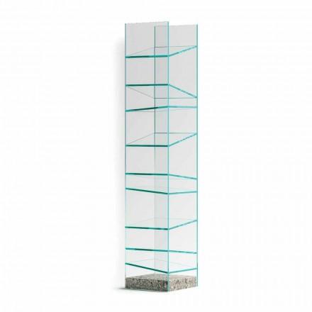 Zaprojektuj regał podłogowy ze szkła ze stalową podstawą Made in Italy - Biba