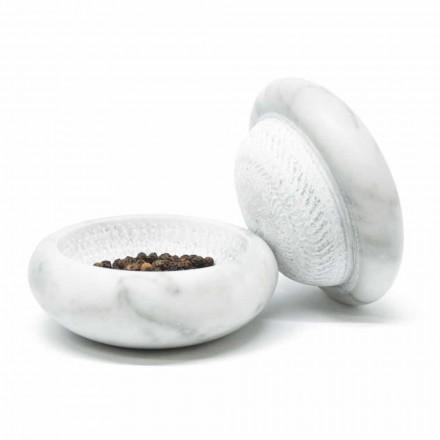 Młynek do pieprzu w białym satynowym marmurze Carrara Modern Made in Italy - Faron
