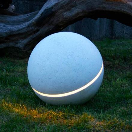 Lampa z marmuru kula model Sphera, 1 cięcie made in Italy