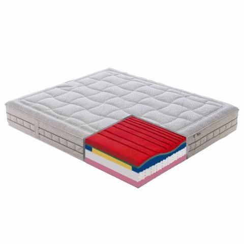 25 cm Podwójny materac wysokiej jakości z pamięcią Made in Italy - Platinum