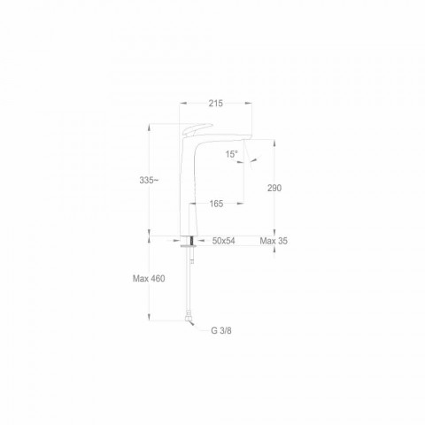 Designerska bateria umywalkowa z mosiądzu Made in Italy - Filipo