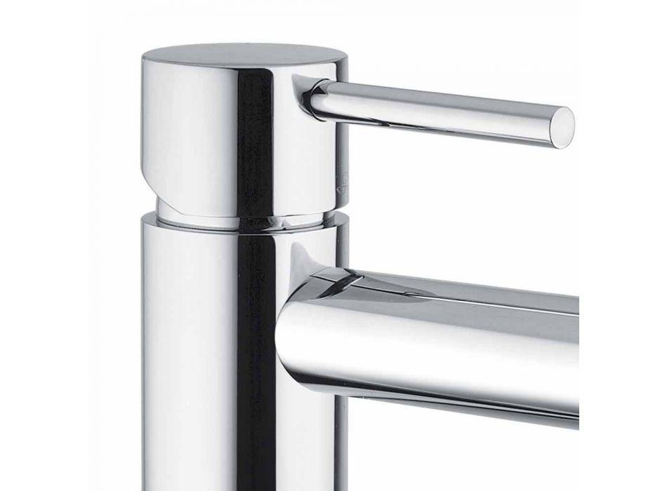 Bateria umywalkowa do łazienki z chromowanego mosiądzu bez odpływu Made in Italy - Ermia